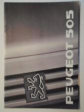 Peugeot 505 Berline Gamme ORIG 1988 1989 UK Marketing sales brochure-GTI GTD TURBO V6