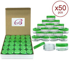 50 Pieces 5 Gram/5ML Plastic Makeup Cosmetic Lotion Cream Sample Jar Containers