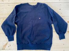 Vintage 90s USA Champion Reverse Weave Navy Blue Crewneck Sweatshirt  Sz XL
