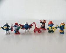 Vintage Smurf Figure Lot Plastic Vinyl Toys