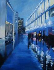 "Excelente Helen Tarr Original ""Blues en el Southbank"" London City Pintura"