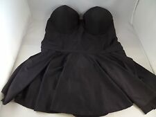 NWT All is Flare in Love SwimDress Bettie Page Black  Sz 12 Sexy Hot Must Have