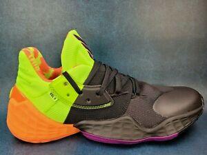 Adidas Harden Vol. 4 Two Tone' Black Green Orange Purple Mens Basketball Sz 10.5