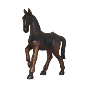 """18"""" Wooden Horse Hand Carved Ornament Home Decor."""