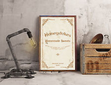 Honeydukes Homemade Sweets Harry Potter A4 Poster Picture Retro Vintage Print