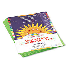 Sunworks Construction Paper 58 lbs. 9 x 12 Bright Green 50 Sheets/Pack 9603