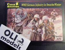 1/72 WWII German Infantry in Smocks Winter FIGURES SET - Caesar Miniatures 83