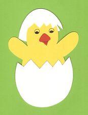 Fensterbild Frühling/Ostern-Küken schlüpft aus dem Ei