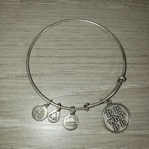 """Alex And Ani """"It Is What It Is """" Charm  Bracelet/Bangle"""