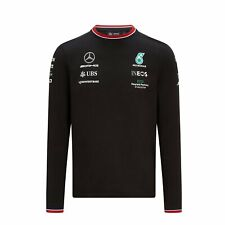 2021 Mercedes Germany AMG F1 Mens Team Longsleeve T-shirt Black size S
