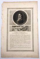 Jean Duplessis Berteaux Engraving Camille Desmoulins Portrait April 1794