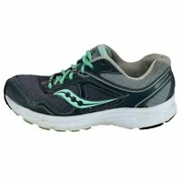 Saucony Womens Grid Cohesion 10 S15333-3 Gray Teal Running Shoes Lace Up Size 7