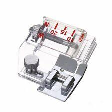 Adjustable Bias Binder Presser Foot Attaching Binding Snap-on Fit Sewing Machine