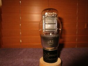 (1) Very Strong Early RCA Engraved Base Mono Plate 2A3 Audio Triode Tube