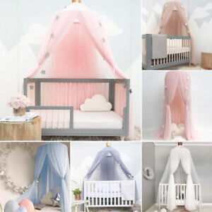 Kids Room Decor Bed Canopy Drapes Mosquito Net Dome Mesh Play Tent Art Home