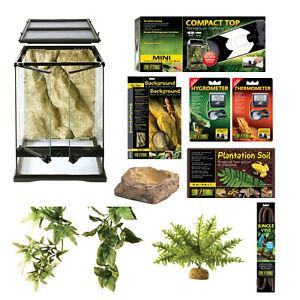 Exo-Terra Rainforest Starter Habitat Kit - Contains Everything for Ideal Setup