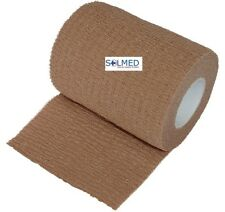 2 X 7.5CM x 4.5M STRETCHED FIRST AID ELASTIC COHESIVE SELF ADHESIVE BANDAGE TAN