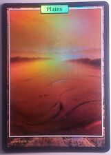 Plaine Full Art Unhinged  PREMIUM - FOIL Textless Plains - Magic Mtg - NM-