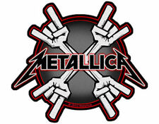 Metallica Metal Horns Small Woven Cut Out Patch - New - Licensed Product