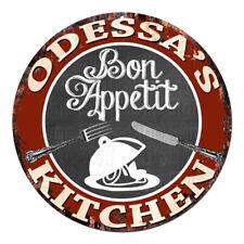 CPBK-0767 ODESSA'S KITCHEN Bon Appetit Chic Tin Sign Decor Gift Ideas