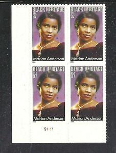 Scott 3896 37¢  Marian Anderson Plate Block of 4