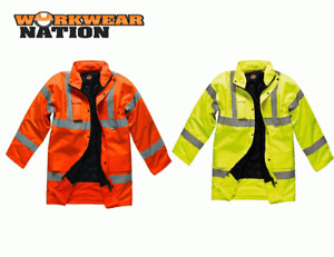 Dickies Hi Vis Motorway Safety Jacket Coat Various Colours SA22045