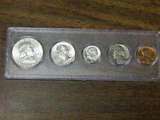Complete 1962 Year Set! 5 Coins! Half Dollar-Cent