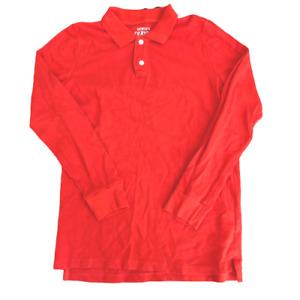 Crewcuts Long Sleeve Polo Shirt, Boy's Size 14, Orange / Red, Everyday, Classic