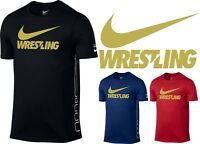 Men's Original T-Shirt Nike Elite GOLD Wrestling Training Shirt S-XL