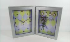 Avon Lavender Shadow Box Clock LOVE Battery Powered Freestanding New With Box