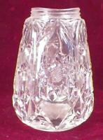 Antique Glass Muffineer Sugar Shaker Clear Pressed Hobstars Buttons No Lid