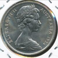 Australia, 1974 Ten Cents, 10c, Elizabeth II - Uncirculated