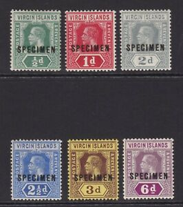 Virgin Islands. 1913-19. SG 69s-74s, 1/2d to 6d specimens. Fine mounted mint.