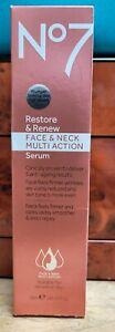 No7 Restore & Renew Face & Neck Serum 1.69 Oz New/Sealed LOW PRICE!!
