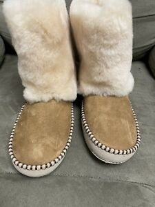 UGG Australia Chestnut Kestrel Shearling Cuff Boots/Booties size 8
