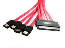 internal 32 Pin SFF-8484 to 4 eSATA 7 Pin external hard disk SAS Cable 50cm