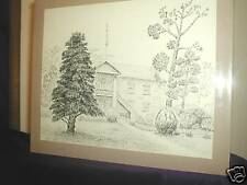 1979, Art Study, Mary F Orr, Old Fashioned School House, Reseller, Landscape, US