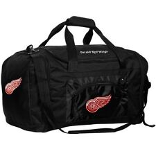 DETROIT REDWINGS BLACK ROADBLOCK DUFFLE BAG NEW & OFFICIALLY LICENSED