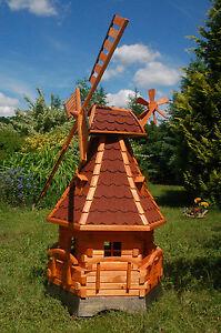 Windmühle, Windmühlen kugelgel. 1,4m Beleuchtung Solar LED, für den Garten