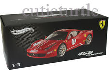 Hot wheels Elite Ferrari 458 Italia Challenge #5 1/18 Diecast Red X5486