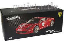 Hot wheels Elite Ferrari 458 Italia Challenge #5 1/18 Diecast Red X5486