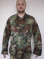 Vtg BDU US Army Military Woodland Camo Combat Hot Weather Jacket Coat Med-Long