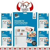 10x A4 Magnetic Photo Paper Gloss Suitable Inkjet Printers Fridge Card Signs UK