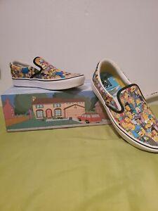 The Simpsons x Vans comfycush slip-on, Worn once