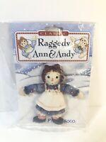 Vintage Enesco Raggedy Ann & Andy Raggedy Ann Jointed Lapel Pin - BRAND NEW