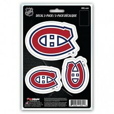 montreal canadiens nhl ice hockey fan sticker vinyl decal set made in usa