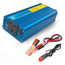 car converter 800w/2000w power inverter pure sine wave DC 12v to AC 230v 2USB
