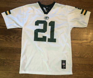 Kids Charles Woodson #21 Green Bay Packers NFL Football Reebok Jersey Kids XL