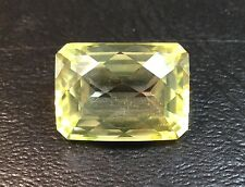 Mystic Topaz Chartreuse Emerald Cut 18x13mm Checkerboard Faceted 21.77 Carats