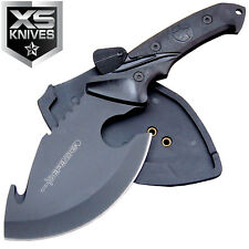 "10"" Tactical Fixed Blade Hunting Axe Full Tang Gut Hook Skinner Knife / Sheath"